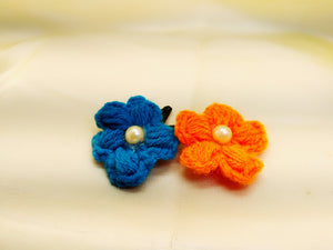 Daffodils Crochet Tic Tacs With Pearl- Set of 2