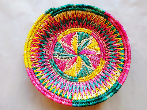 Sikki Grass Decorative Basket - Floral
