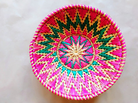 Sikki Grass Decorative Basket- Floral Small
