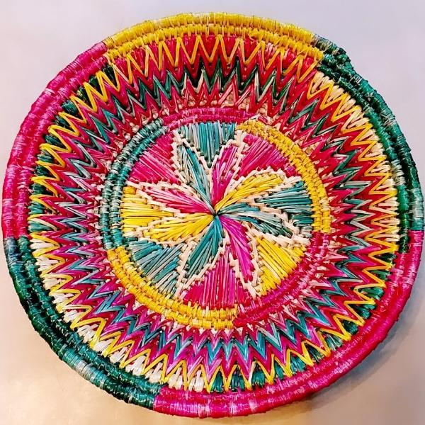 Sikki Grass Decorative Basket - Floral - Ahaeli