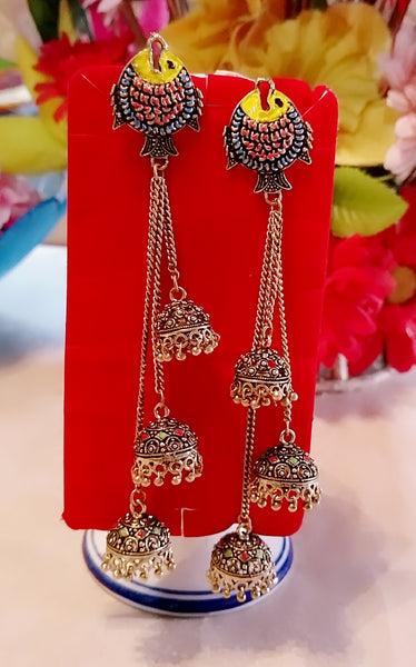 Earrings - Fish Style Mithila Art