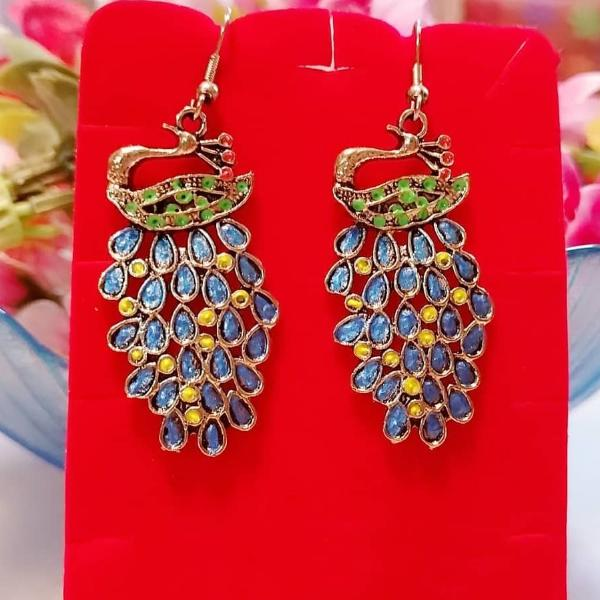 Earrings - Blue Peacock