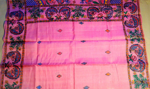 Saree - Mithila Painting Pink