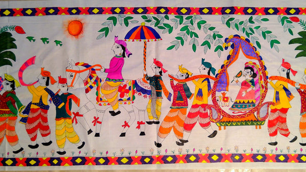 Poster- Wedding Celebration (Madhubani Art) - Ahaeli
