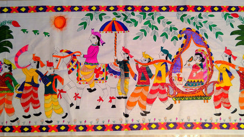 Poster- Wedding Celebration (Madhubani Art)