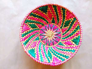 Sikki Grass Decorative Basket- Swirl design small - Ahaeli