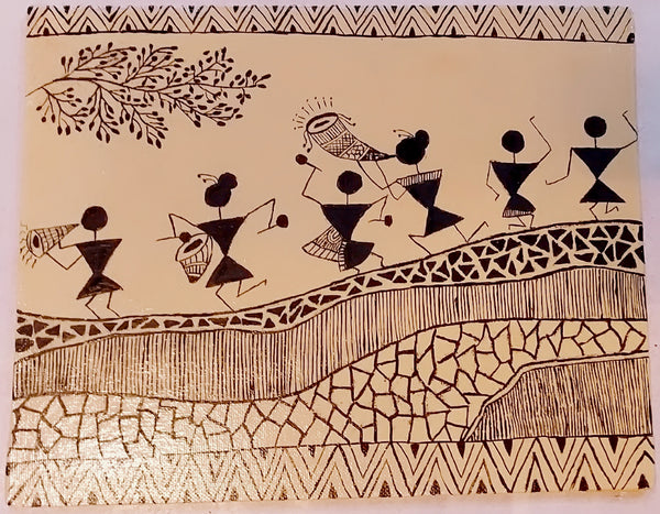 Canvas Painting - Warli art - Ahaeli