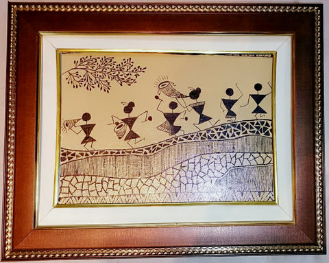 Canvas Painting - Warli art