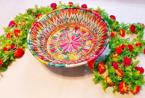Sikki Grass Decorative Basket - Ahaeli