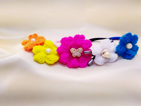 Crochet Flowers- Set of 5