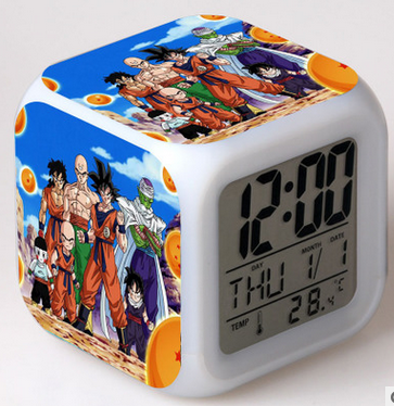 Dragon Ball LED Colorful Night Light Touch Alarm Clock - oblevs