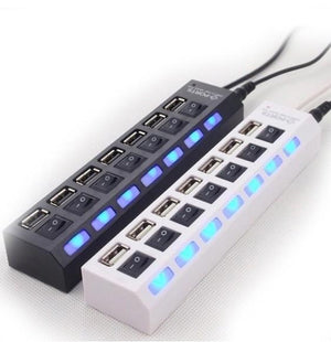 7-Port USB Hub With LED - oblevs