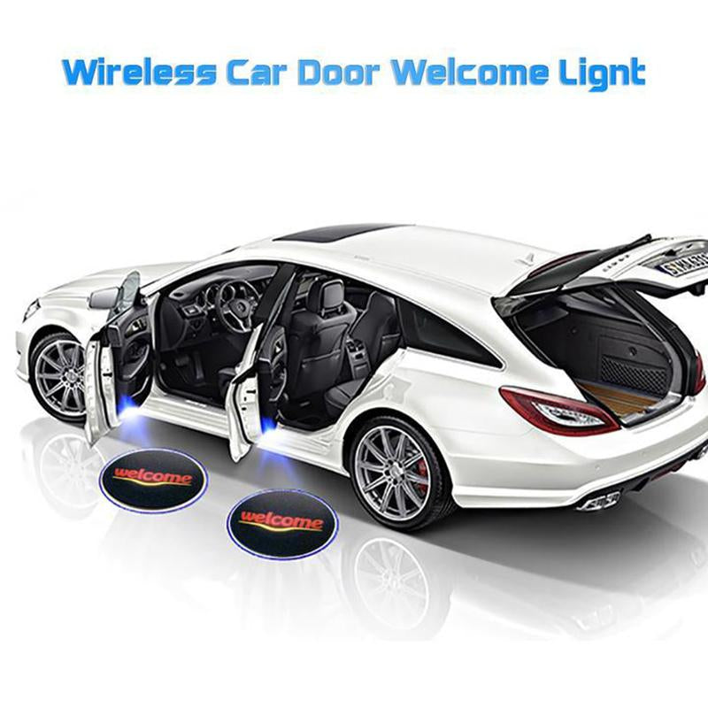 Universal Wireless Car Projection LED Projector Door Shadow Light - oblevs