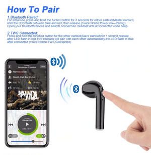 NEW i7s Bluetooth Wireless Earbud Headphones With Charging Case- [Special Offer] - oblevs