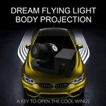 Car Led Laser Door Shadow Light Angel Wing Ghost Shadow Projector Welcome Lamp(2 Pack) - oblevs