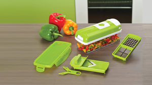 One Second Slicer - All in One Vegetable Slicer and Food Preparation Station - oblevs