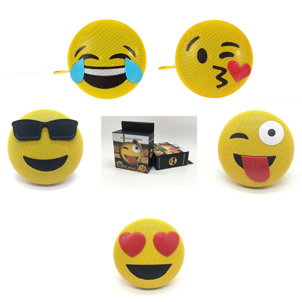 Emoji Mini Portable Outdoor Bluetooth Speaker - oblevs