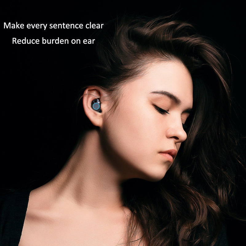 [Bluetooth 5.0 & IP7 Waterproof]The NEWEST TWS Earbuds Headset Dual Mic with Charger - oblevs
