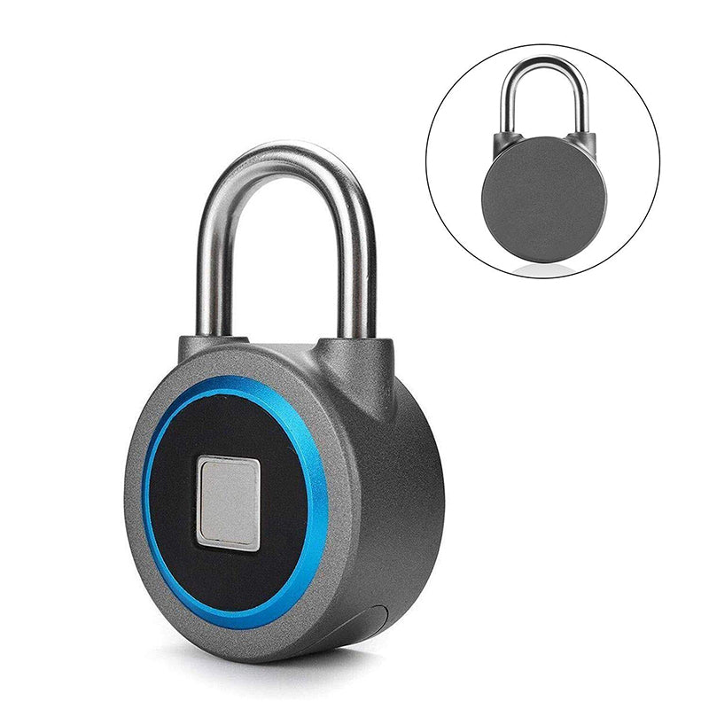Fingerprint Padlock Bluetooth Connection Metal Waterproof - oblevs