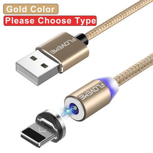 Magnetic Cable For Lightning Micro USB Type C Phone Cable For iPhone Micro TYPE-C Fast Charge Magnet Charger - oblevs