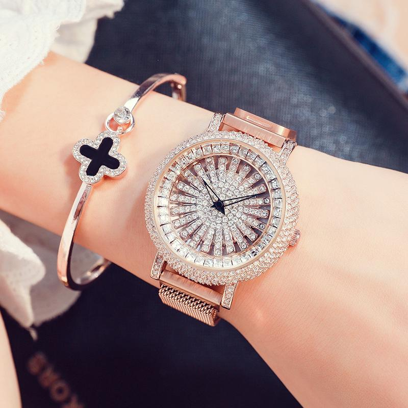 2019 New Fashion Women luxury Waterproof Watch with Rotating Dial - oblevs