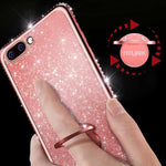 2018 New Fashion Bling Crystal Case Soft TPU Cover With Ring - oblevs