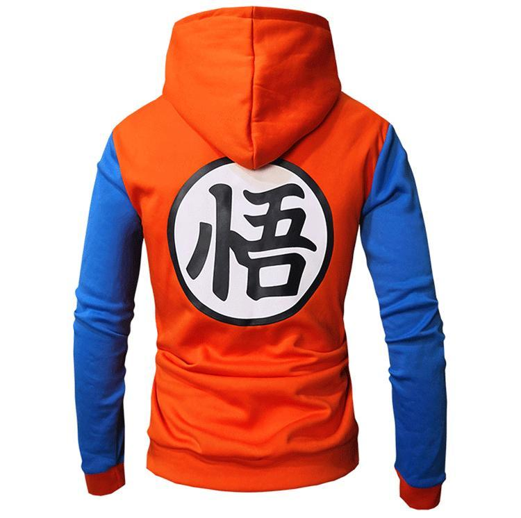 Contrast Color Dragon Ball Hoddie for Men - oblevs