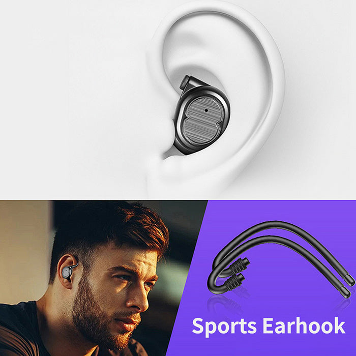 touch Bluetooth headset 5.0 true wireless mini invisible sports running headset universal - oblevs