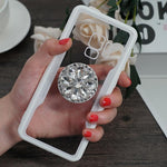2019 New Fashion Mirror Flash Diamond Airbag Bracket Mobile Phone Case For Samsung - oblevs