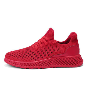 4D flying woven upper knit sport shoes - oblevs