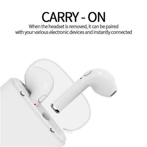 Wireless Earphone Bluetooth Earphones Pair In-Ear Earbuds Headphones Stereo Headset with Mic for All Smart Phone - oblevs