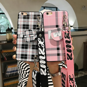 2018 New Fashion Airbag Stand  Lanyard Mobile Phone Case For iPhone - oblevs