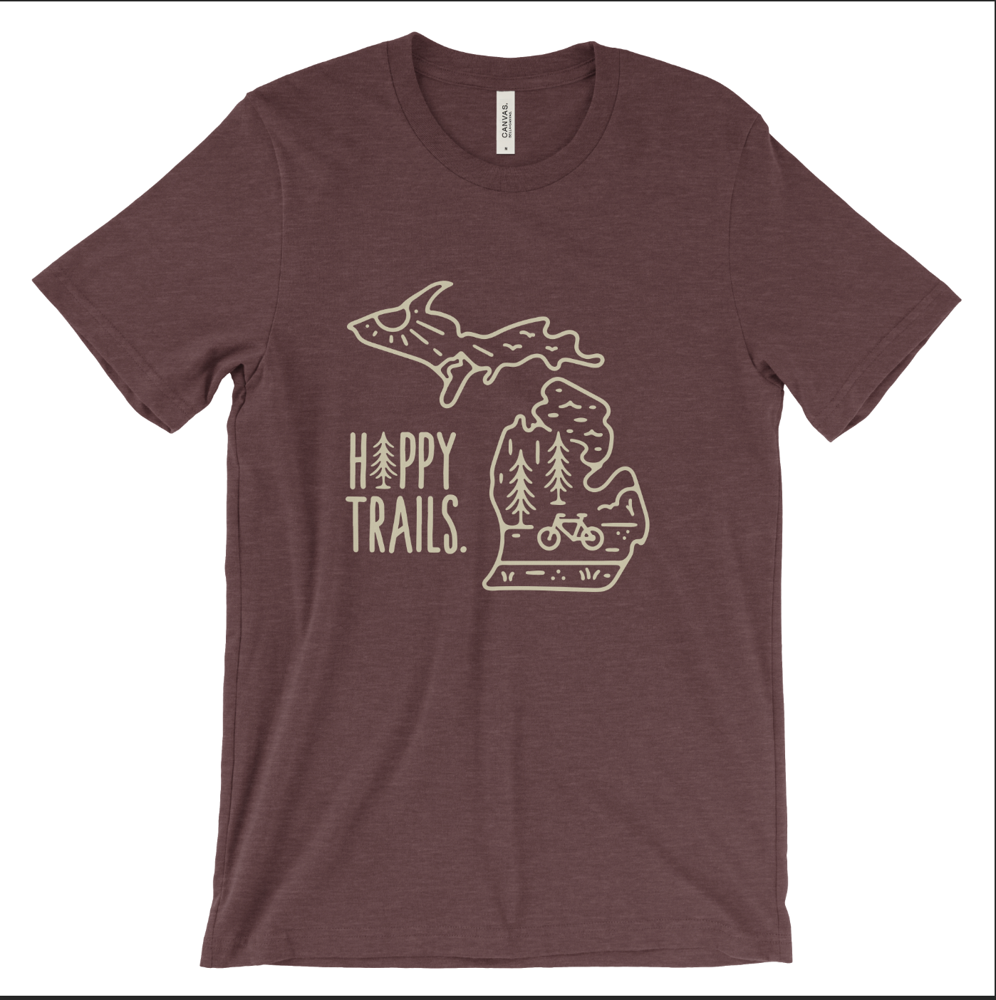 Happy Trails Michigan unisex tee