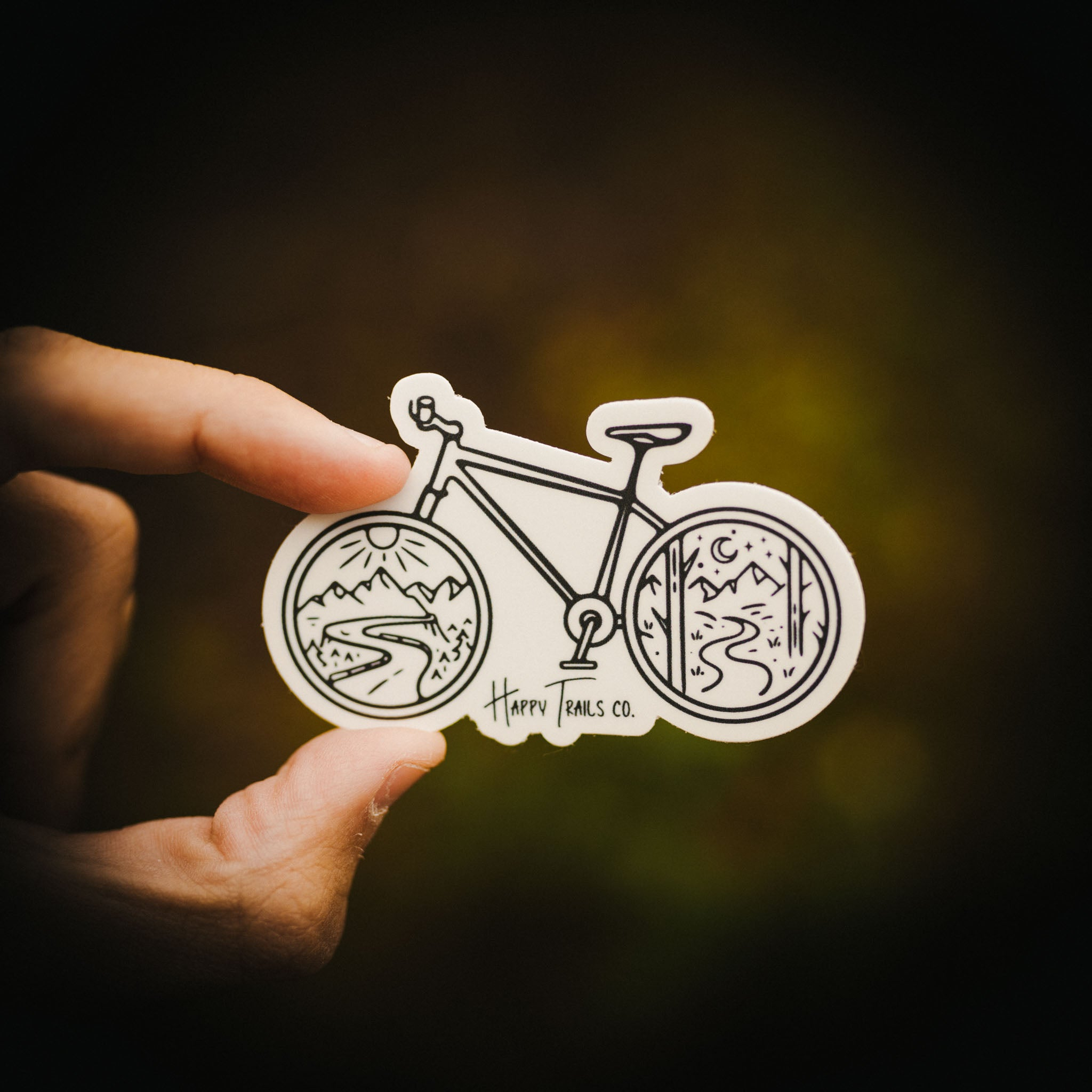 Bike views sticker