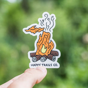 Michigan campfire sticker