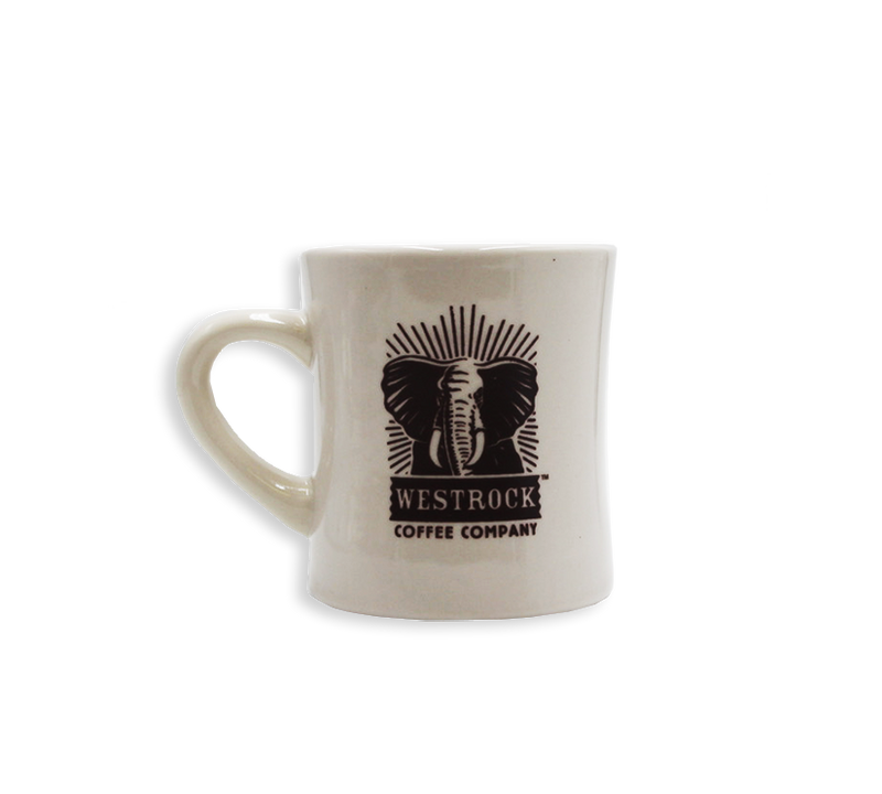 Westrock Coffee Company White Ceramic Mug with Dark Traditional Logo