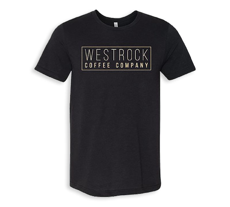 Westrock Coffe Company T-Shirt with Boxed Company Name