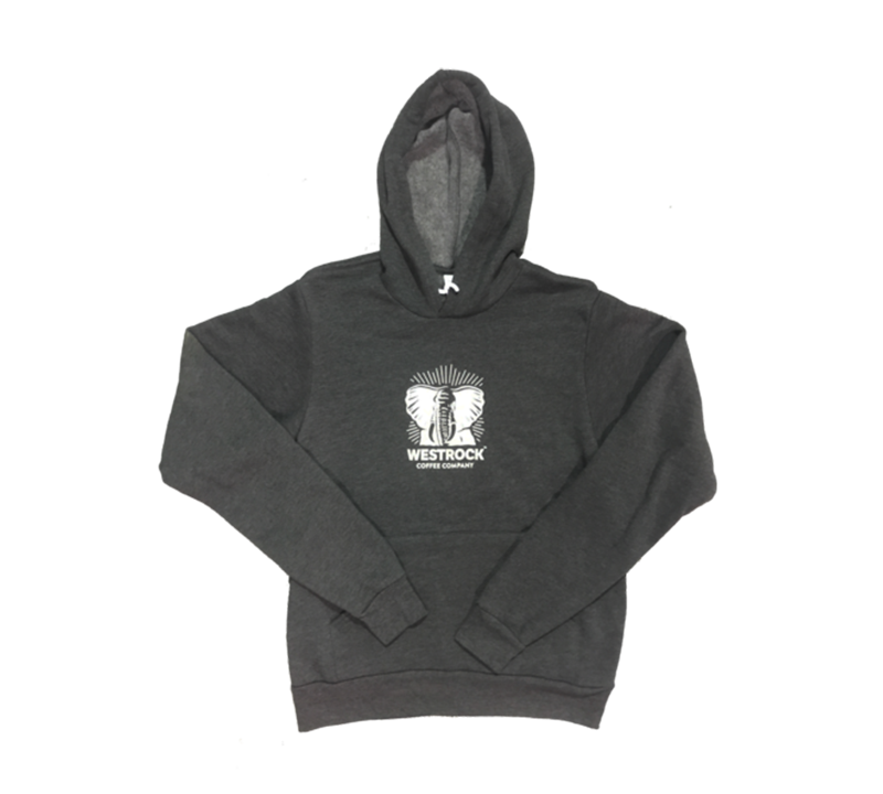 Westrock Coffee Company Black Hoodie with White Elephant Logo