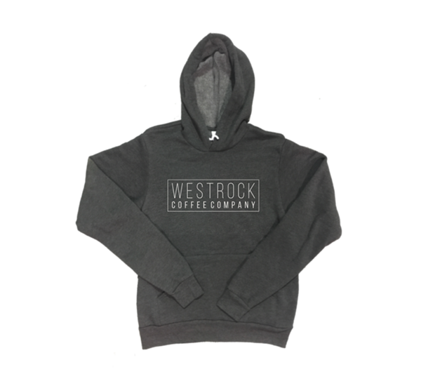 Westrock Coffee Company Black Hoodie with Retro Box Company Name