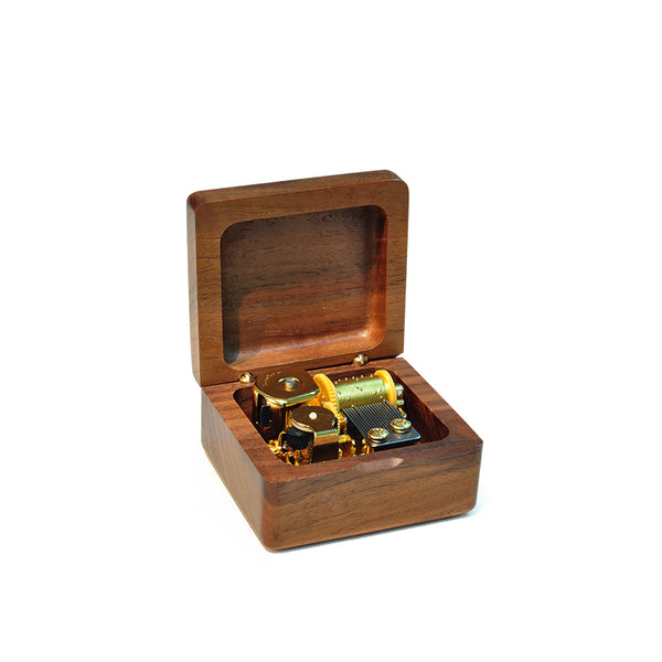 Solid Wood Open Music box