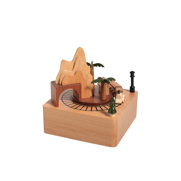 Magnetic Train Wooden Music Box