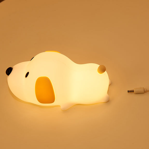 Rambery  Cute Puppy Dog Night Light for Kids Silicone LED night lamp for Babies with Sensitive Touch Control USB Rechargeable - Idea Gift