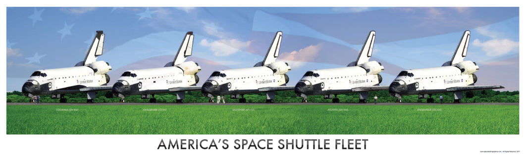 NASA Space Shuttle Fleet Print