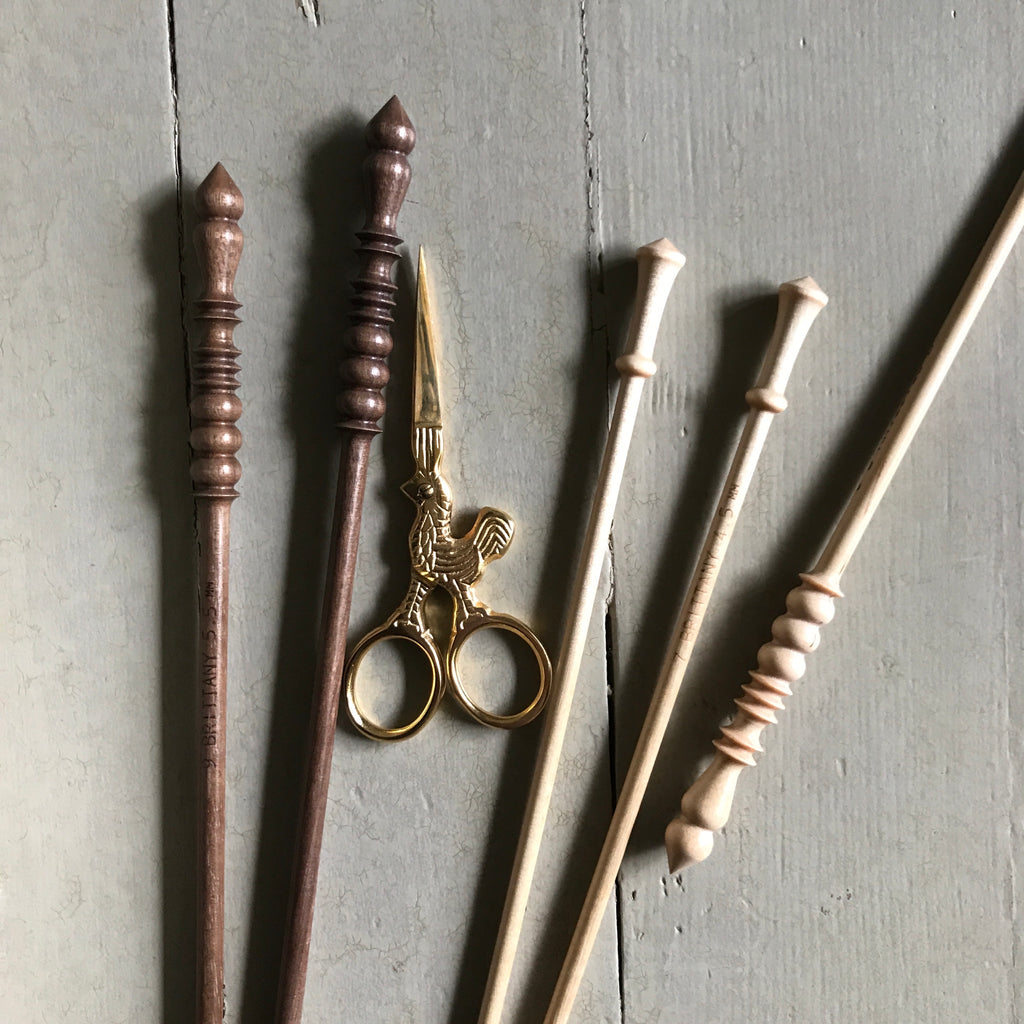 Walnut Knitting Needles