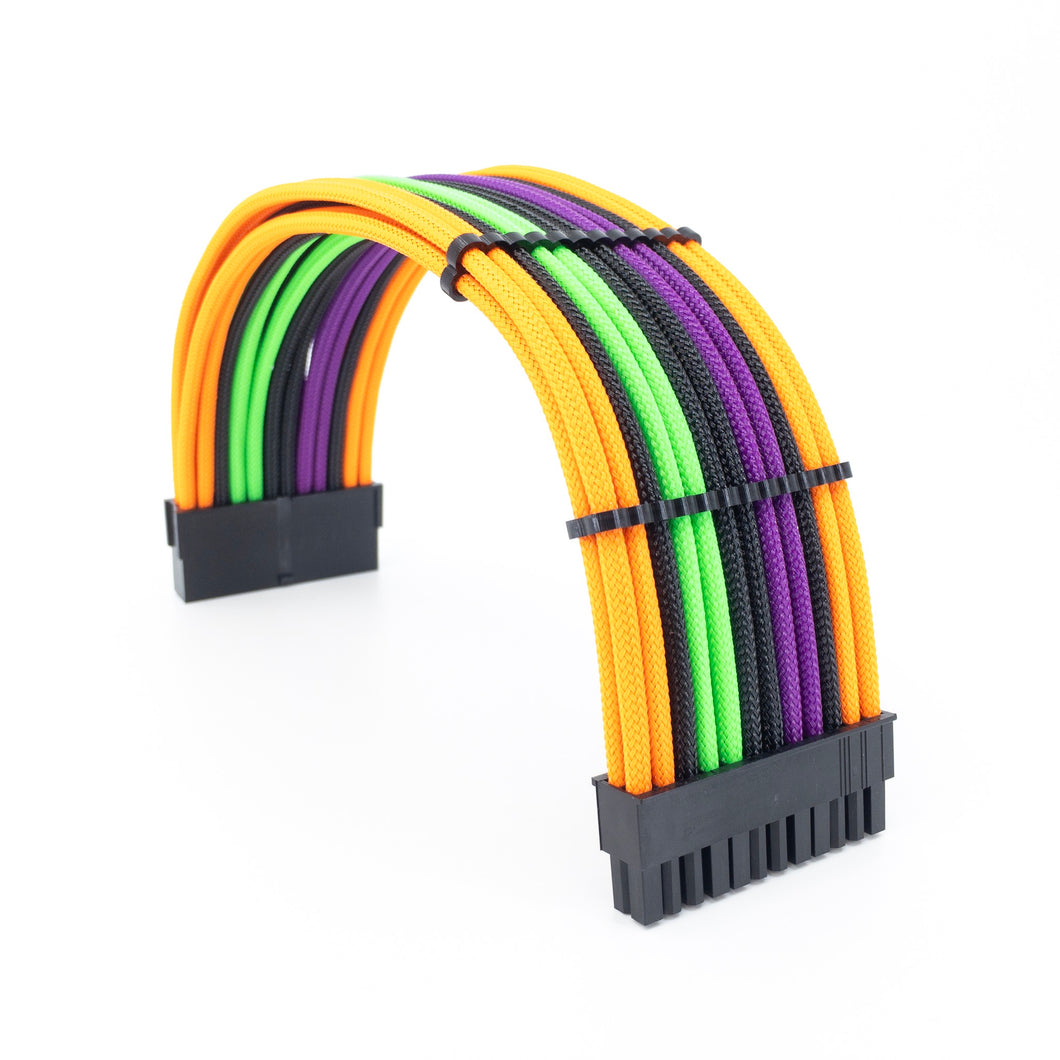 24pin ATX Power Cable Extension - PET Sleeve - 16AWG