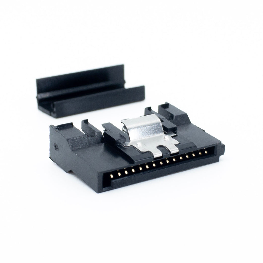 SATA Female Power Push-In Style Connector With Clip (Cap Included)