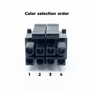 8pin (4+4) EPS Power Cable Extension - PET Sleeve - 16AWG
