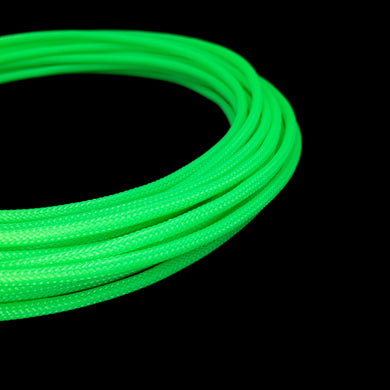 PET Cable Braided Sleeve - Acid Green