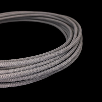 PET Cable Braided Sleeve - Billet Gray - 5/32in (4mm)