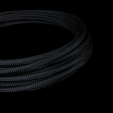PET Cable Braided Sleeve - Black - 5/32in (4mm)